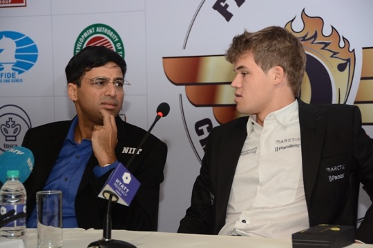 Carlsen - Anand press conference