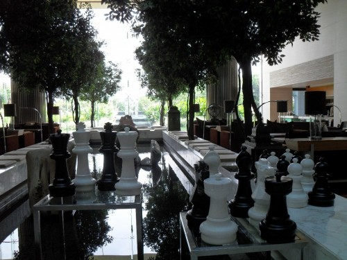 Chess pieces everywhere