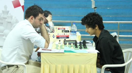 GM Merab Gagunashvili and Vidit Santosh Gujarathi