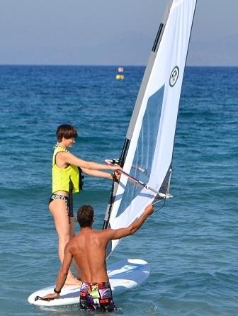 Olga Dolzhikova getting ready to sail