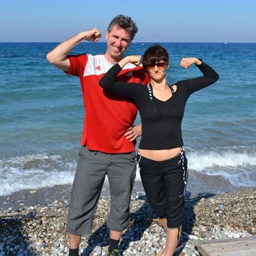 Simen Agdestein on Rhodes beach