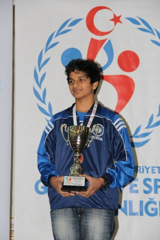 Winning cups and medals is Vidit's habit