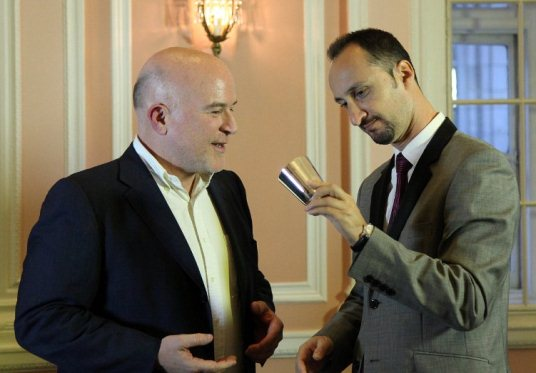 Andrew Paulson and Veselin Topalov