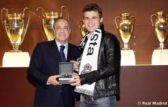 Florentino Pérez and Magnus Carlsen
