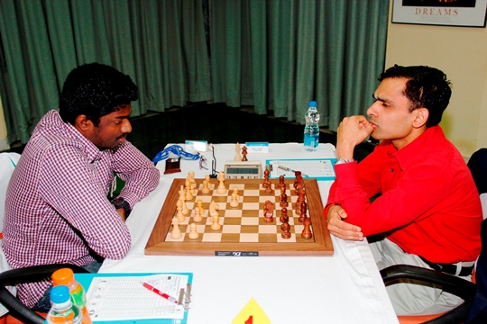 Former U16 world champion GM Adhiban shocked second seeded GM K Sasikiran