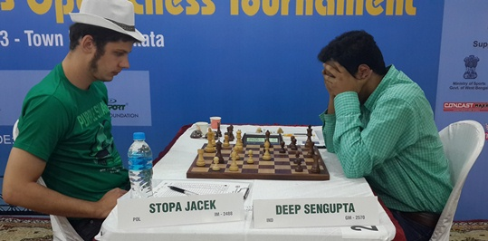 IM Stopa Jacek of Poland defeated GM Deep Sengupta to emerge sole leader