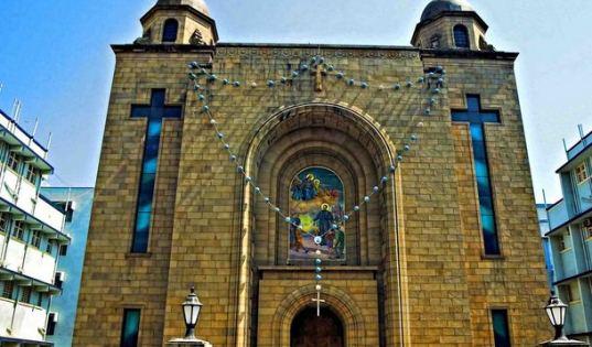 The Shrine of Don Bosco's Madonna church in the school campus of Don Bosco High School