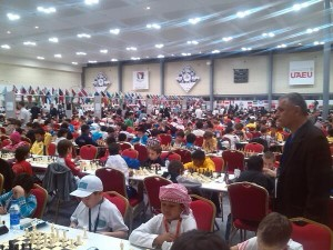 The massive World Youth Chess 2013 started in Al Ain (photo by  Theodoros Tsorbatzoglou @teotsorb)