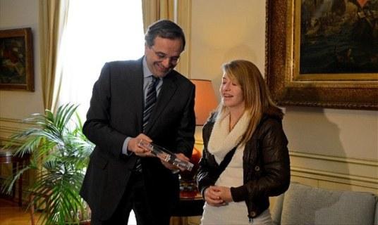 Antonis Samaras and Stavroula Tsolakidou