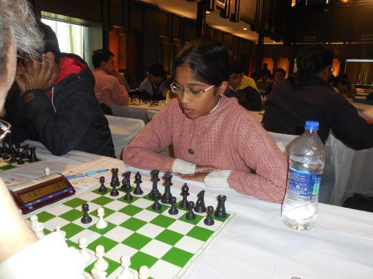 Cholleti Sahajasri held International Master Narayanan Srinath