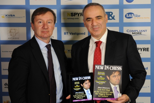 Dirk Jan ten Geuzendam and Garry Kasparov