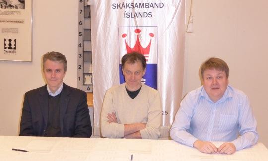 Palmi Petursson, Helgi Olafsson and Gunnar Björnsson