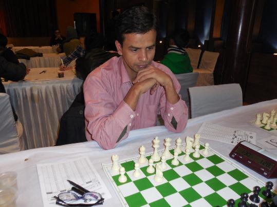 Rajesh Upadhayay, who held Grandmaster S Kidambi