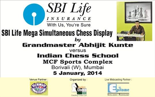SBI Life Mega Simultaneous Chess Display by Grandmaster Abhijit Kunte