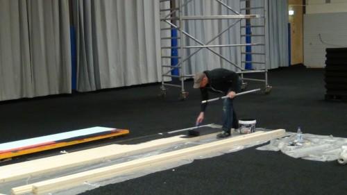 The carpet was laid last Thursday 2