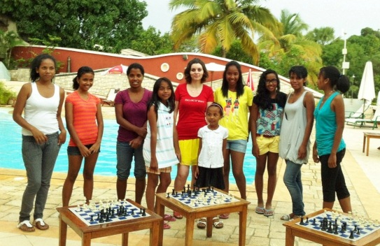 With motivated chess players - Madagascar