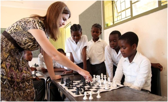 A small simul with students at primary school