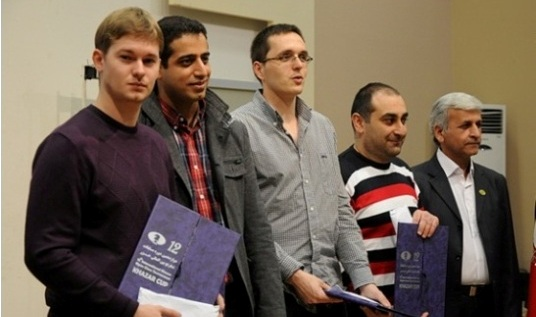 Top players in A Group - GM Azer Mirzoev, GM Sipke Ernst, GM Ehsan GhaemMaghami, GM Vasily Papin
