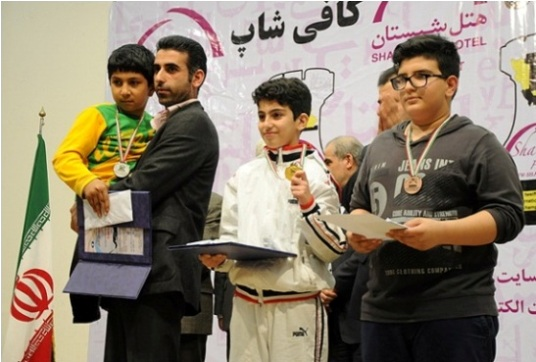 U14 top players in D group - Abolfazl Kazemian, Arian Yousefikia and Alireza Hosseini
