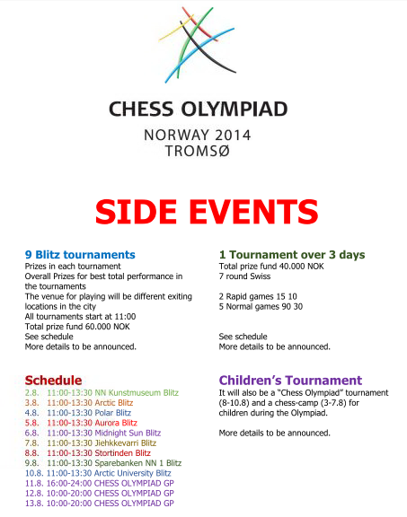 Chess Olympiad Tromso Side Events