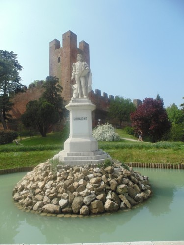 A monument of the famous Italian painter Giorgione