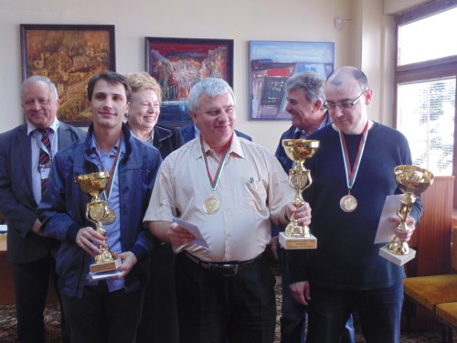 GM Ivan Cheparinov, GM Kiril Georgiev and GM Atanas Kolev (from left to right)