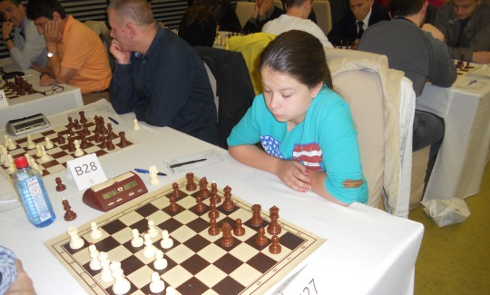 The youngest participants of the tournament - Katarina Nestorovic, 13 years old