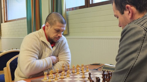 The winner GM Vasily Yemelin in action