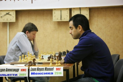 GM Manuel Leon Hoyos hadn't the best tournament (22nd place with 5,5/9), but his countrymen, the football team of Mexico did, qualifying for the 1/8 finals of the World Championship