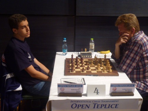 GM Daniel Naroditsky (USA) defeated Bo Garner Christensen (DEN) in the second round