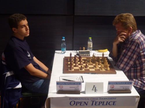 GM Daniel Naroditsky (USA) defeated Bo Garner Christensen (DEN) in the second round