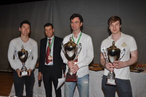 GM Van Wely, GM Van Kampen and GM Eric Hansen took the first prizes