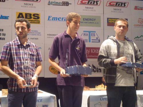 GM Hrant Melkumyan, GM Daniel Naroditsky and IM Ed Andreev