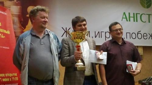 GM Khalifman (3rd), GM Ponkratov (1st) and GM Fedorov (2nd)