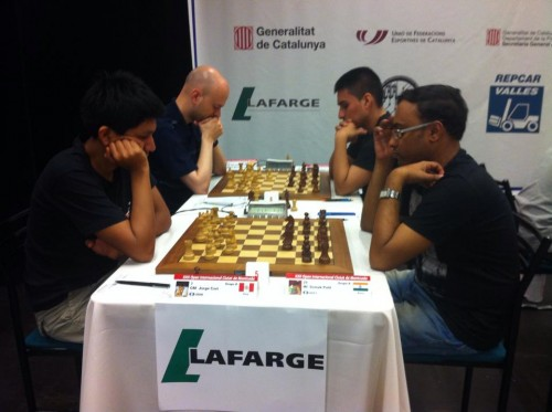 GM Jorge Cori defeated IM Somak Palit in the sixth round