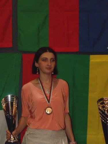 IM Salome Melia (Georgia) took the bronze, as well as a GM norm