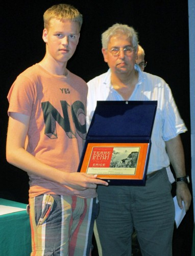 "Young Dutch player Micha Senders got ""Targa Monaco"" special prize as best under 20 (photo by Gianni Gigante)"