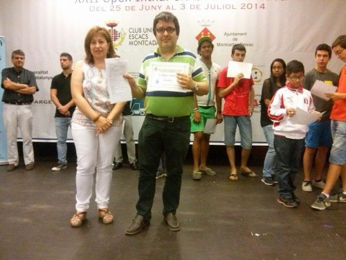 IM Lluis Maria Perpinya Rofes had a great tournament, fulfilling a GM norm