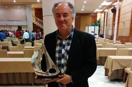 GM Aleksa Strikovic with the trophy
