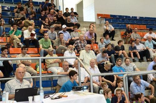 Audience assembles  to watch the Gelfand-Svidler match