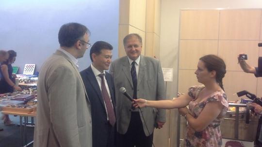 FIDE President Kirsan Ilyumzhinov interviewed by Vojvodina TV