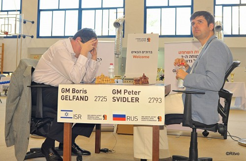 Gelfand concentrating before the game begins