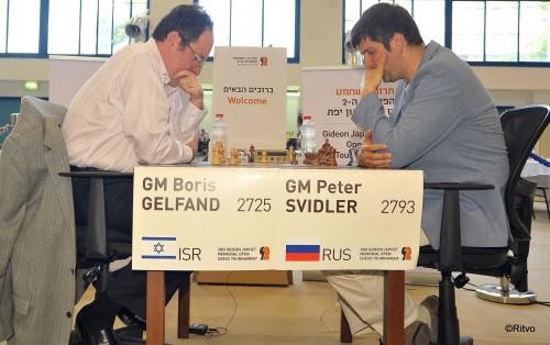 Gelfand vs. Svidler in the Gideon Japhet Memorial Open Chess Tournament
