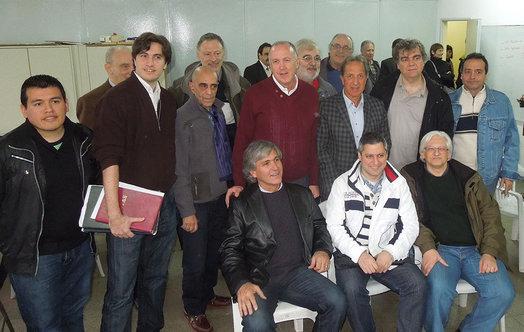 Mario Petrucci and Rodolfo Perez Wertheim with FADA delegates