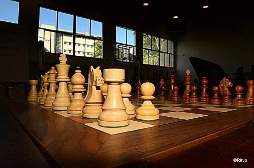 The Gelfand-Svidler board at the Gideon Japhet Memorial Open Chess Tournament