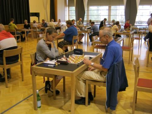 Äijälä Jouko (FIN) - Tishova Svetlana (RUS) ½ - ½.