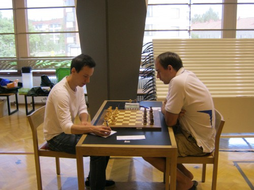 The eighth round game FM Henri Pohjala - GM Kaido Kulaots finished in favor of the champion