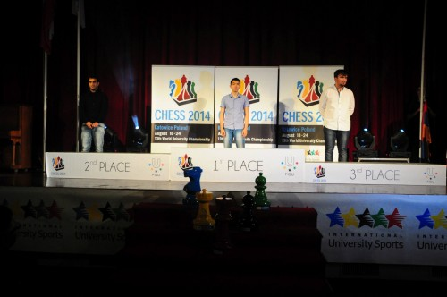 The winners GM Sjugirov, GM Grigoryan and GM Bukavshin