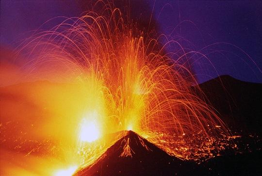 A paroxysm of Etna