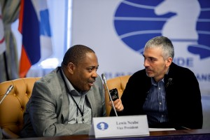 Lewis Ncbube interviewed by Goran Urosevic (photo Kirill Merkuriev)